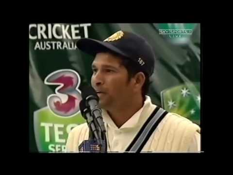 RARE  Sachin Tendulkar Speech on Steve Waugh Retirement