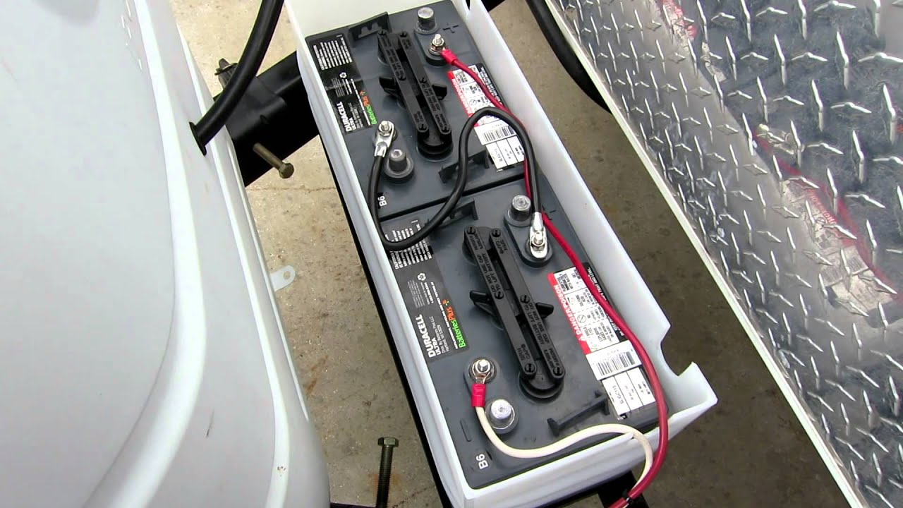 6 Volt Golf Cart Battery Installation On Rv Youtube