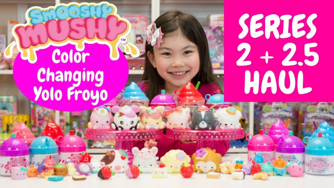 Smooshy Mushy Series 2 Do-Dat Donuts : HUGE SERIES 2 + 2.5 SMOOSHY MUSHY SQUISHY HAUL!! YOLO FROYO COLOR CHANGING SQUISHIES + DO DAT ...