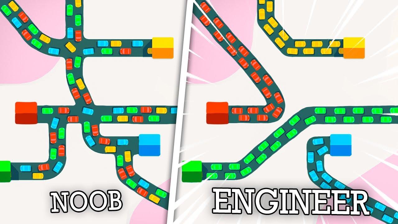 Using SEGRAGATED HIGHWAYS to reduce traffic congestion! Mini Motoways!