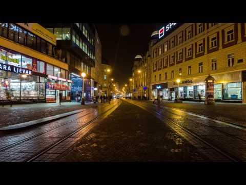 ZAGREB night lapse 4k