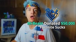 I Donated $50,000 To Ninja - Fortnite