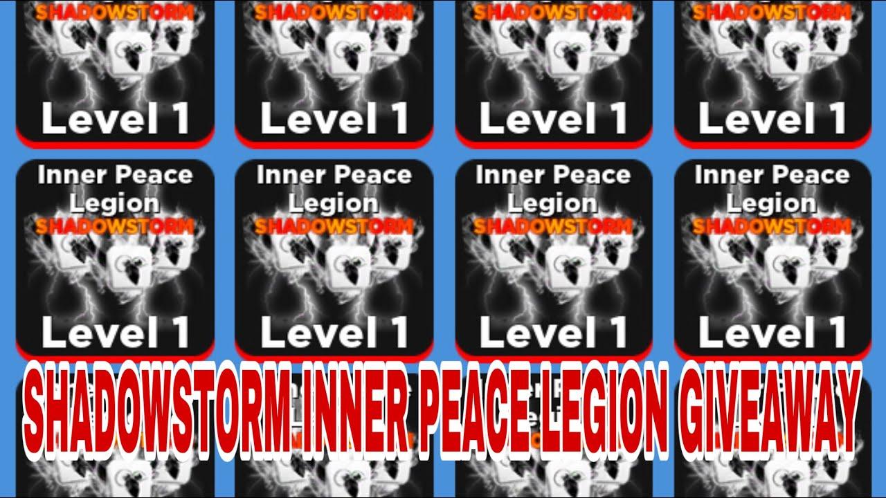 🔴LIVE: SHADOWSTORM INNER PEACE LEGION GIVEAWAY *NEW UPDATE** (ROBLOX NINJA LEGENDS)