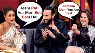 Kareena Kapoor Best Reaction On Sara Ali Khan And Saif Ali Khan Koffee With Karan Season 6 Episode