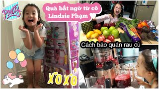 Cuối Tuần Nhận Quà BẤT NGỜ Từ Cô Lindsie Phạm ♥ Cách bảo quản rau củ | mattalehang