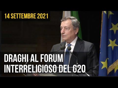 Draghi interviene al Forum Interreligioso del G20
