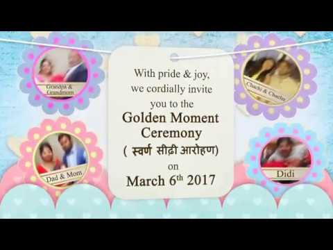 CRADLE / NAMING CEREMONY WhatsApp INVITATION FOR BABY Boy