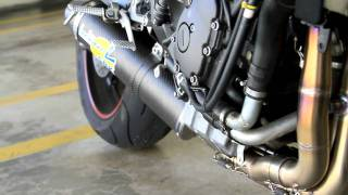 2007 Yamaha R6 Leo Vince SBK Full System Naked View Part 2