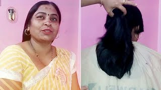 #Stepshaircut Long TO short steps HAIR CUT of a simple indian lady HOBBIES Of Asha Rai,Bilaspur CG