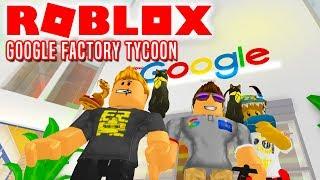 NÓS SOMOS GOOGLE! -Roblox Google Factory Tycoon inglês