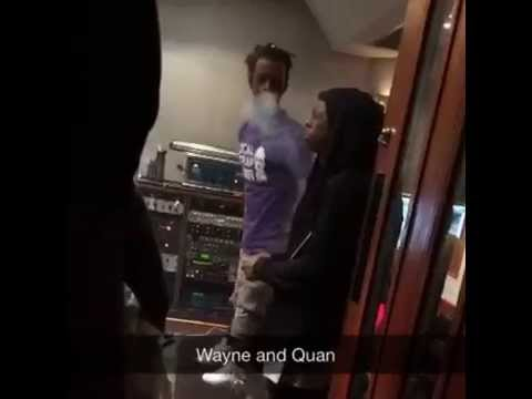 Rich Homie Quan & Lil Wayne Hit Up The Studio In Miami ...