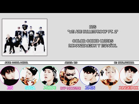 "BTS 방탄소년단 ""We Are Bulletproof PT. 2"" [COLOR CODED] [ROM