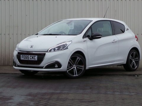 2015 65 peugeot 208 1 2 puretech 110 gt line 3dr in white youtube. Black Bedroom Furniture Sets. Home Design Ideas
