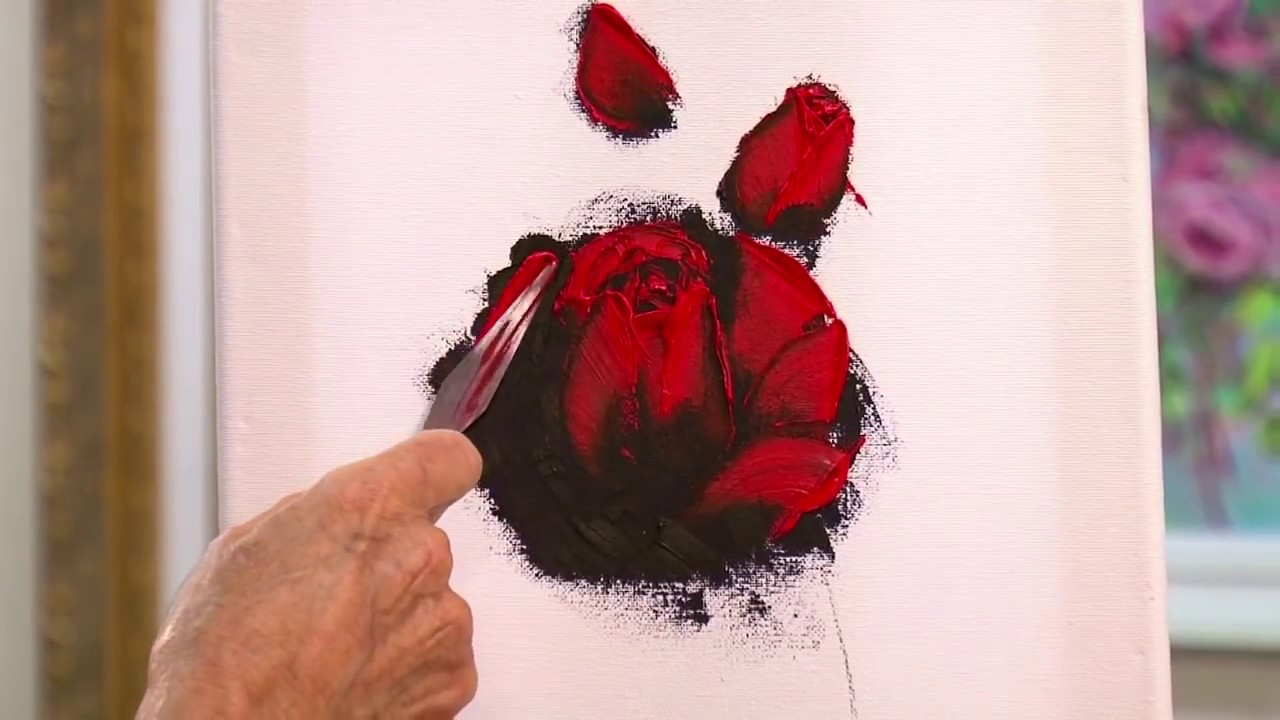 show me how to draw a rose