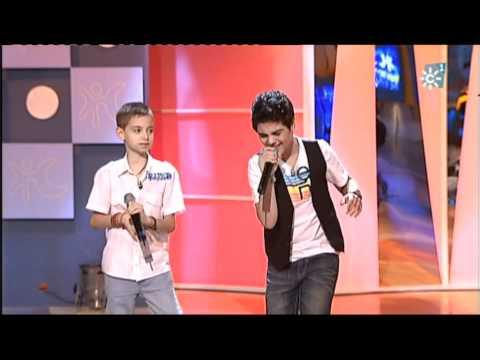 Abraham Mateo 12 años y David Parejo 10 años  YO NO ME DOY POR VENCIDO  Luis Fonsi