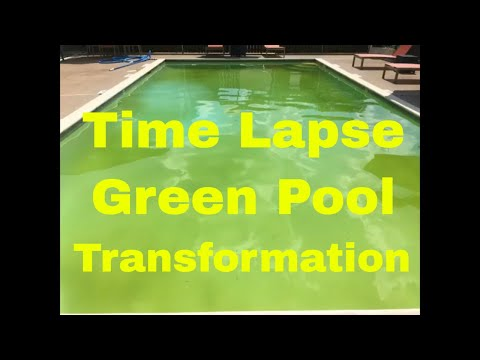 Pools 201:  Time Lapse Green Pool 2 Min Transformation
