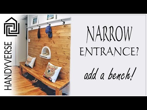 How to Improve a Narrow Entryway by Adding a Bench : Budget Renos #03