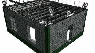 Несъемная опалубка из полистиролбетона. +7 (495) 722-27-55(Энергоэффективность и теплосбережение с инновационной системой домостроения Термо-Блок. Этот ролик описы..., 2011-05-16T15:12:23.000Z)