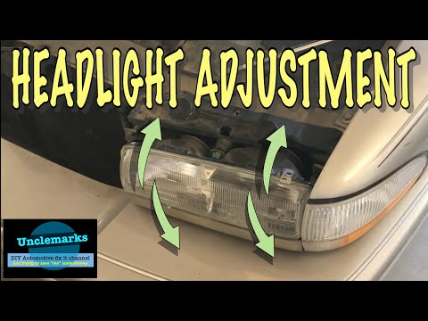 How To Change The Adjustment On A Headlight 1991 To 1996 Buick Park Ave And LeSabre (EP 79)