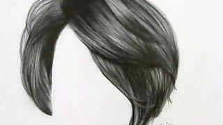 Cómo dibujar cabello con lápiz de grafito / How To Draw Realistic Hair