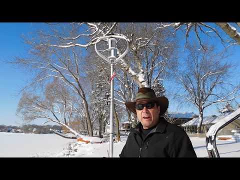 300 Watt Hi-VAWT Vertical Axis Wind Turbines on Green Energy Adventures with the Turbine Guy
