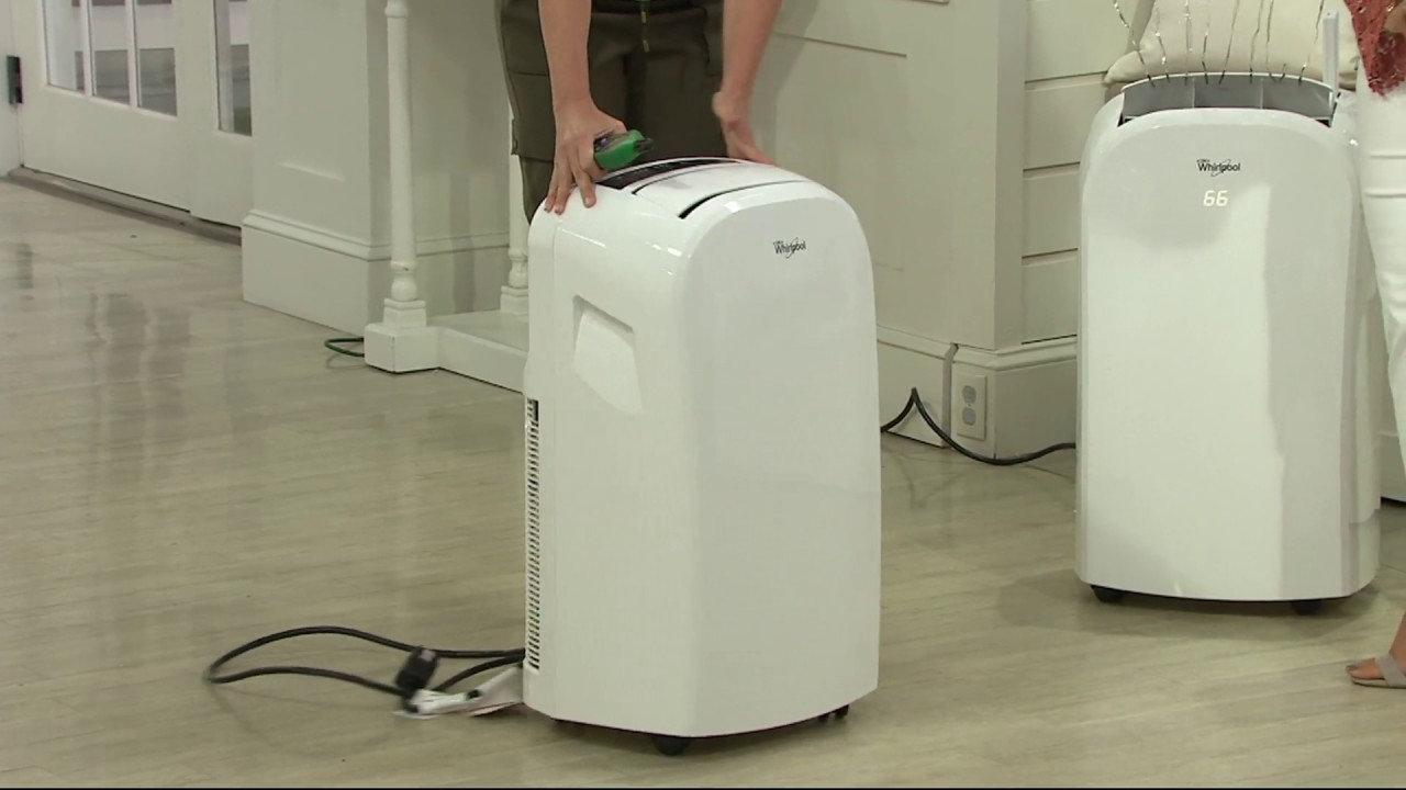 Whirlpool 12,000 BTU Single Exhaust Portable Air Conditioner on QVC ...