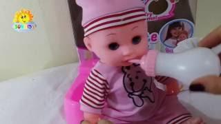 �ồ chơi trẻ em | Baby Doll Potty Training - Barbie baby dolls eat & poop