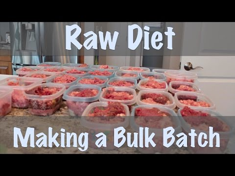 Raw Diet - Bulk Batch Making
