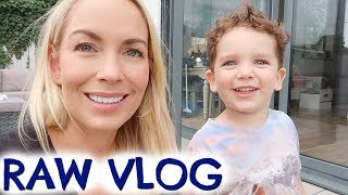 RAW MOM LIFE VLOG, POTTY UPDATE & DINNER BATTLES  |  EMILY NORRIS VLOG
