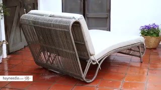 Belham Living Batiki Sun Bed Double Chaise Lounge with Cushion - Product Review Video