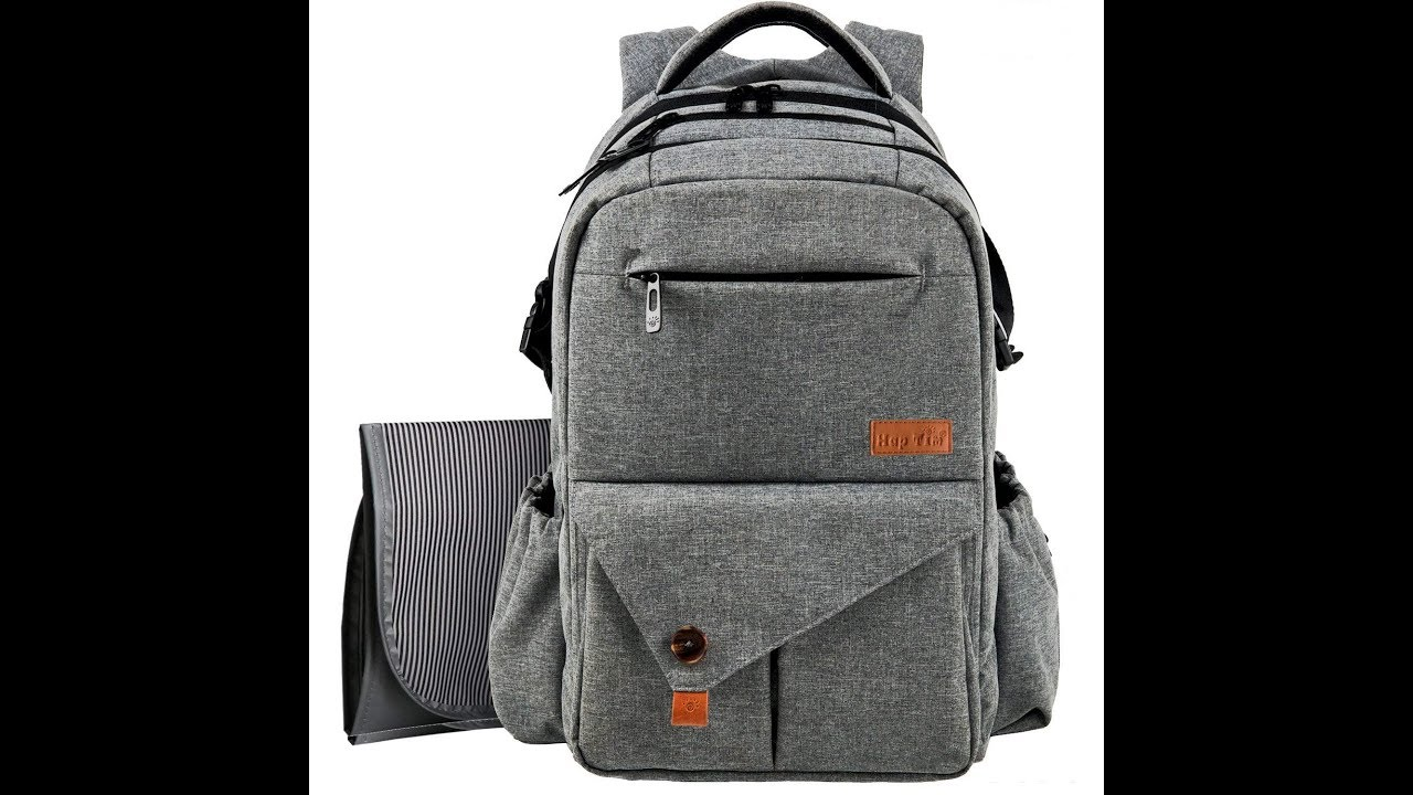 3449a6276f006 HapTim Large Baby Nappy Changing Bag Backpack - YouTube