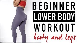 BEGINNER BOOTY & LEG WORKOUT | In Depth Explanations | Vicky Justiz