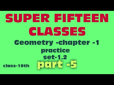 Geometry | class-10th | chapter-1 | practice set 1.2 ...