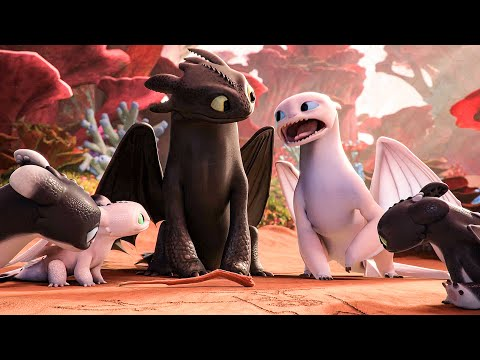 Hiccup's Kids Don't Like Dragons? Scene - HOW TO TRAIN YOUR DRAGON: HOMECOMING (2019) Movie Clip