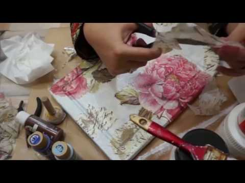 decoupage - diy - upcycling  an old wooden chopping board