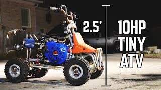 10HP 212 + TINY 4 Wheelier Build!