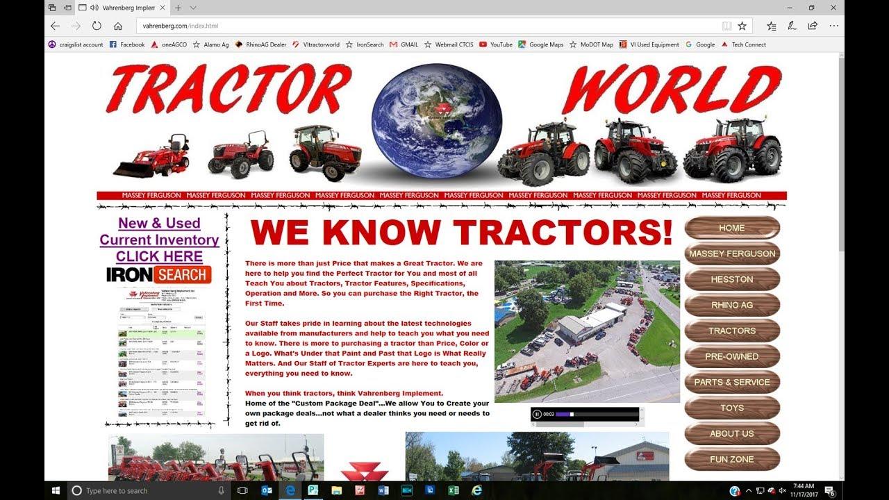 www Vahrenberg com Website & Tractor World Information Resource Forum