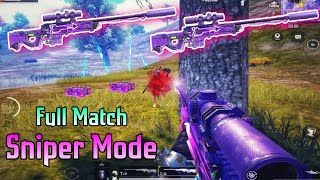 Sniper Mode - Full Match | How To Shoot Fast | Pubg Mobile