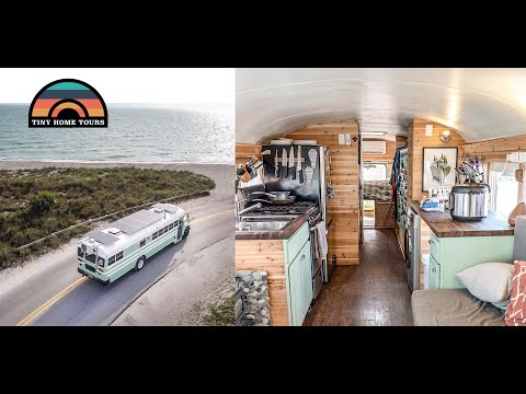 DIY Skoolie Built For Off Grid Living + Insights Into Building & Living In A Tiny House