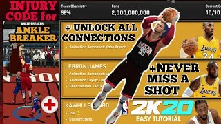 HOW TO GET INJURY CODE FOR ANKLE BREAKER + UNLOCK ALL CONNECTIONS + NEVER MISS A SHOT-NBA 2K20