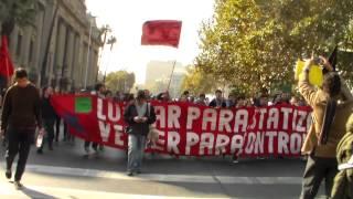 marcha  de profesores y estudiantil 14 de mayo 2015