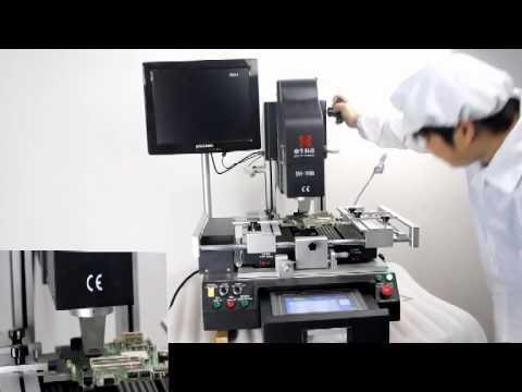 Dinghua Manual Operation Optical Alignment BGA Rework Station  DH-G200 Operation Video