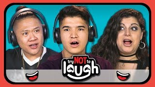 connectYoutube - YouTubers React To Try To Watch This Without Laughing or Grinning #10