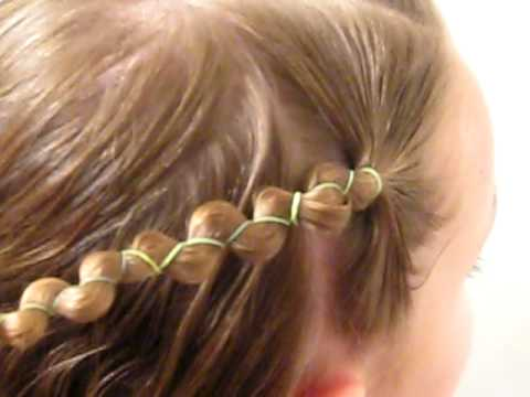 Rubber Band Wrapped Hairstyle