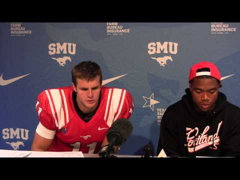 SMU 23 Texas Tech 41 - Garrett Gilbert & Kenneth Acker - Press Conference - Aug. 30, 2013