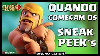 QUAL A VERDADEIRA DATA DE INICIO DOS SNEAK PEEK´S - Clash of Clans - Bruno Clash