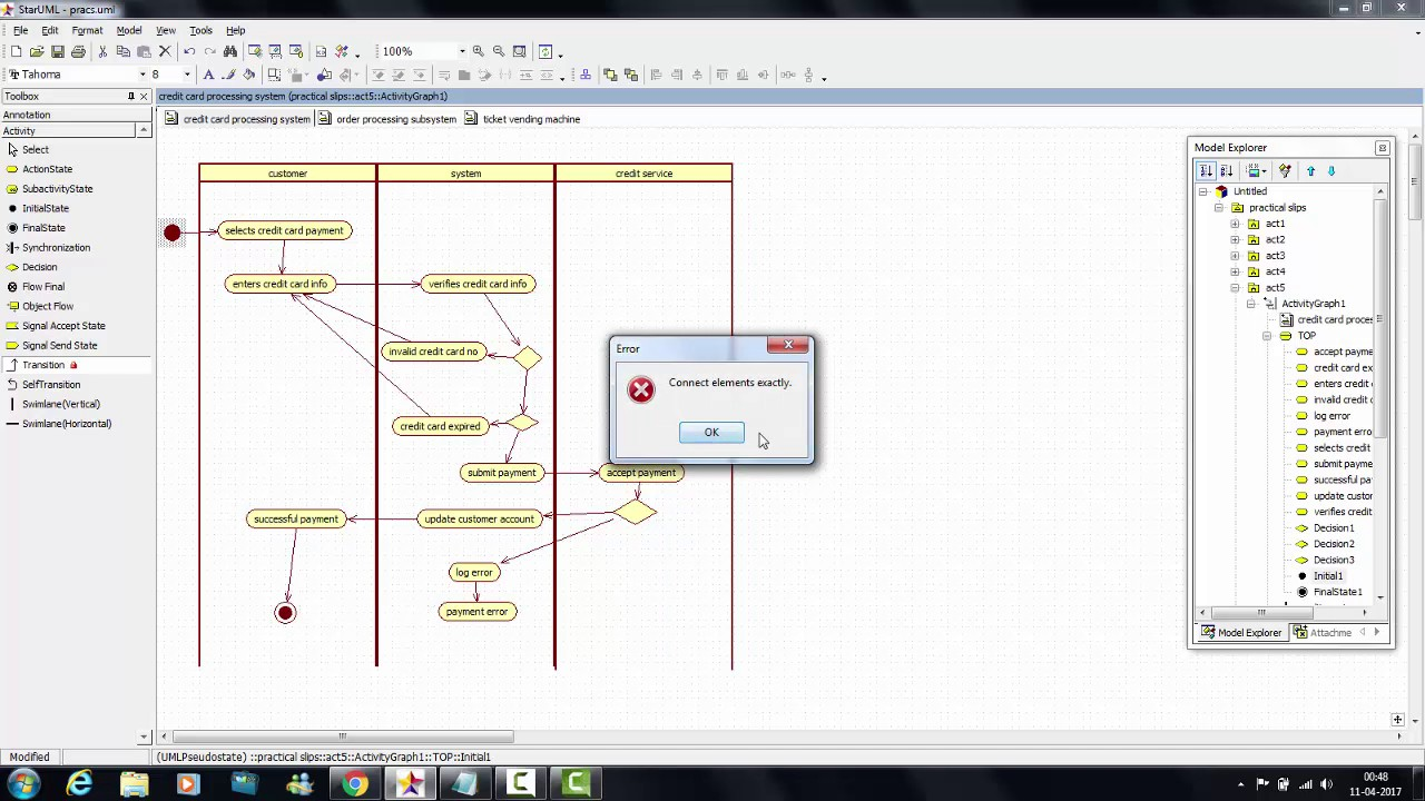 tutorial 15 credit card processing system activity diagram youtube rh youtube com manufacturing process flow diagram [ 1280 x 720 Pixel ]