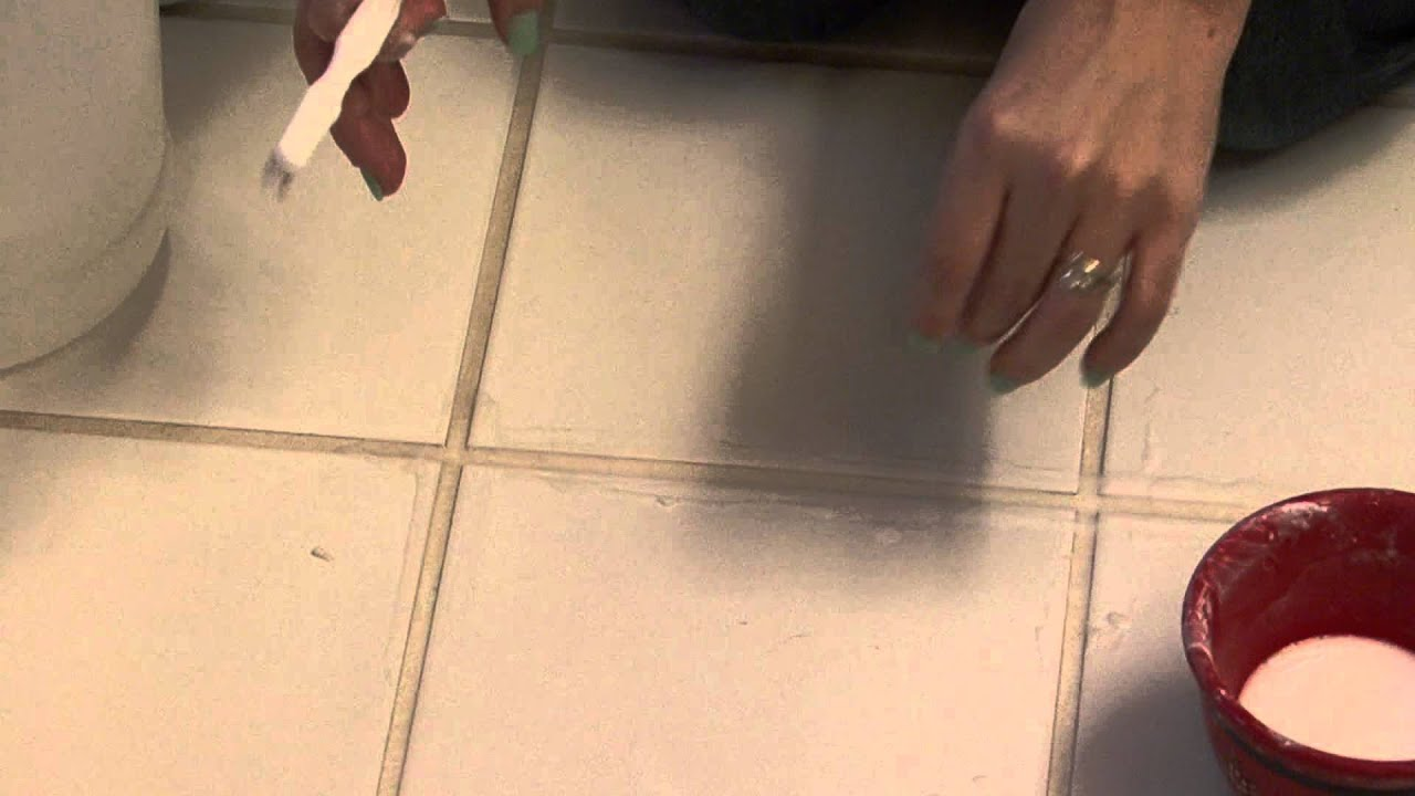 housecleaning tips : how to clean grout between floor tiles - youtube