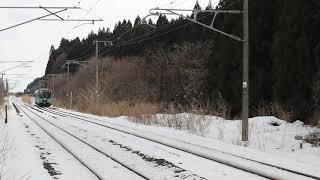 青い森鉄道 青い森703系9501M 小川原駅通過 2019年1月13日