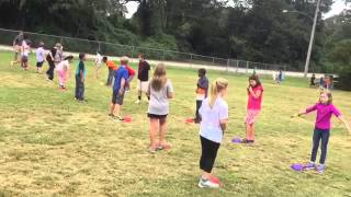 PE lesson: Chasing and fleeing.